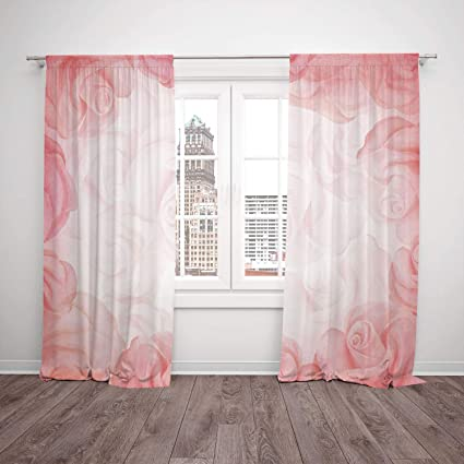 Amazon.com: 2 Panel Set Satin Window Drapes Kitchen Curtains,Light ...