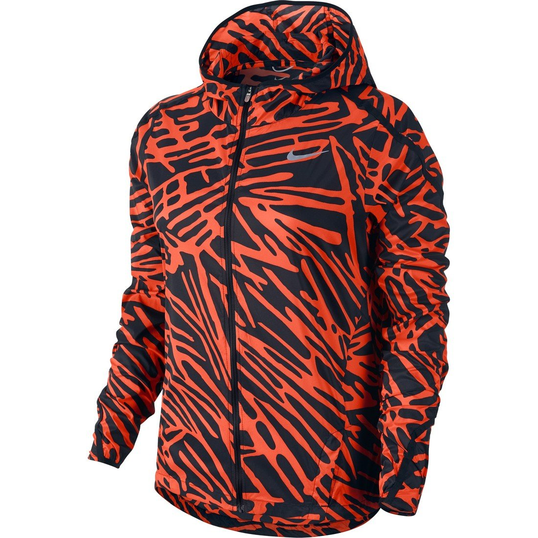 NikeレディースImpossibly Light Palm Print Running Jacket Medium Light Crimson/Black B01AABMIGW