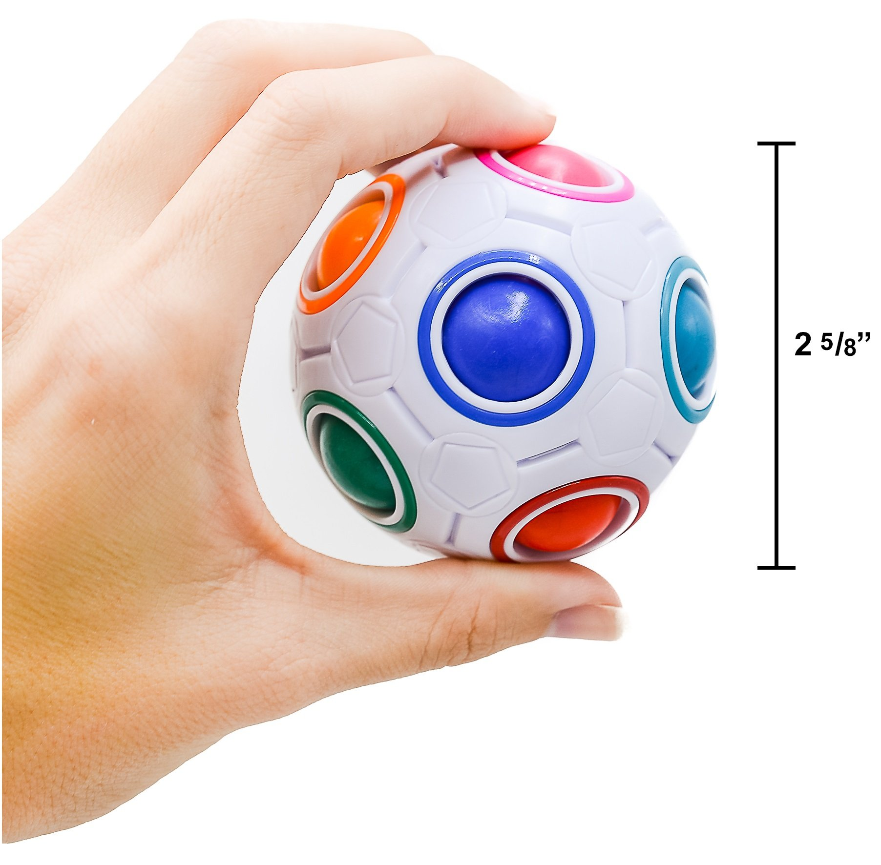 Toyzabo Challenging Puzzle Speed Cube Ball, Matching Colors Game, Fun Fidget Toy Brain Teaser with 11 Rainbow Colors (72 Pcs) by Toyzabo (Image #8)