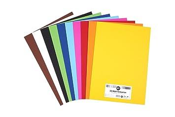 Perfect Ideaz 50 Blatt Din A3 Ton Karton Bunt Bastel Papier Bogen