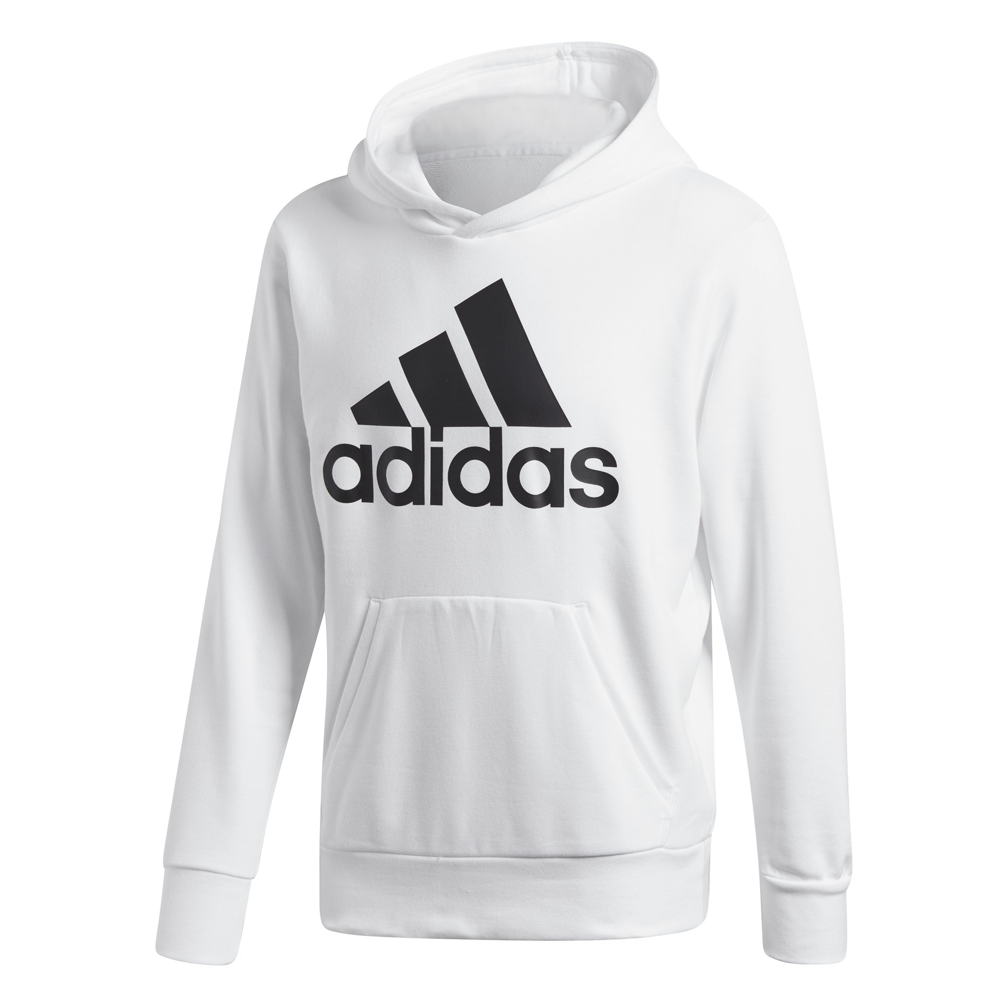 adidas Athletics Essentials Linear Pullover Hoodie, White/Black, Large by adidas