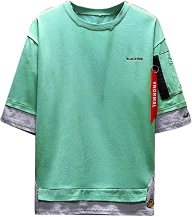 PARVAL Hombre Camiseta de Hip-Hop Camisas de Media Manga Camisetas de Manga Larga Deportivas Ocio Pullover Camisa de Cuello Redondo Sudadera de Manga Larga Moda Preciosa Ropa Cómoda Blusa Tops: Amazon.es: Ropa