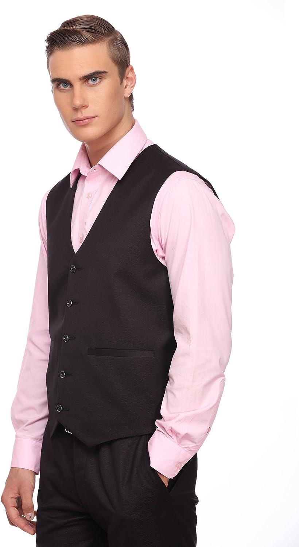 LUXURAZI Deep Midnight Wine Mens Formal Vest