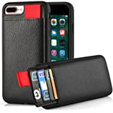 iPhone 7 Plus Wallet Case, iPhone 8 Plus Wallet Case, LAMEEKU Protective iPhone 8 Plus Card Holder Case with Credit Card Slot