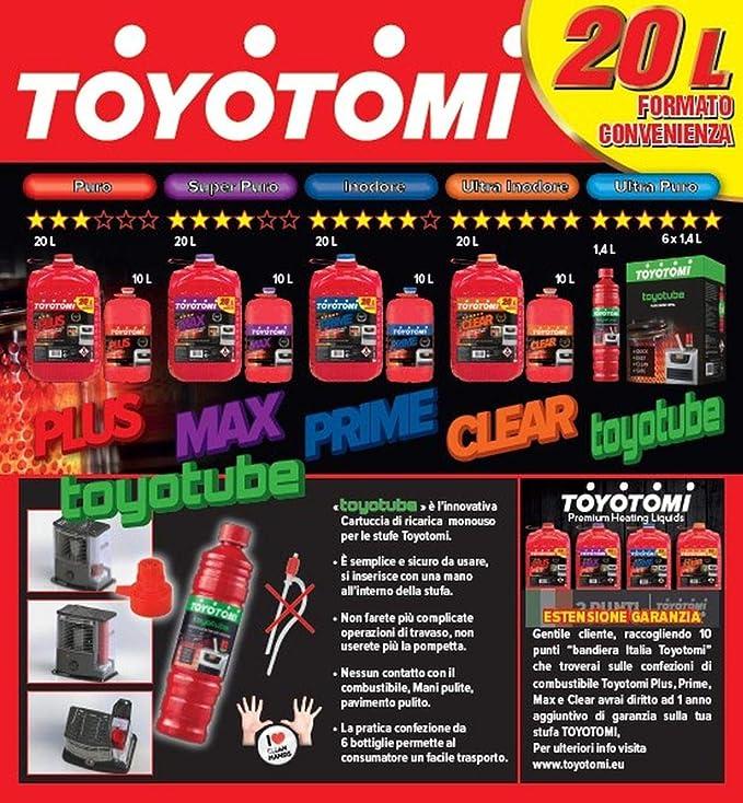 Toyotomi PRIME20L Primas Combustible Para Estufa Zibro, 20 Litros, Aromáticos <0,00080%: Amazon.es: Bricolaje y herramientas