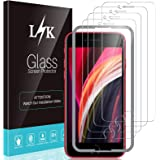4 Pack LϟK Screen Protector Compatible with iPhone SE 2020 and iPhone 6 7 8 4.7 inch Tempered Glass Film Case Friendly, Insta