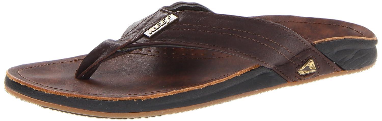 7a21f528099d Amazon.com  Reef Men s Leather J-Bay Thong Sandal  Shoes