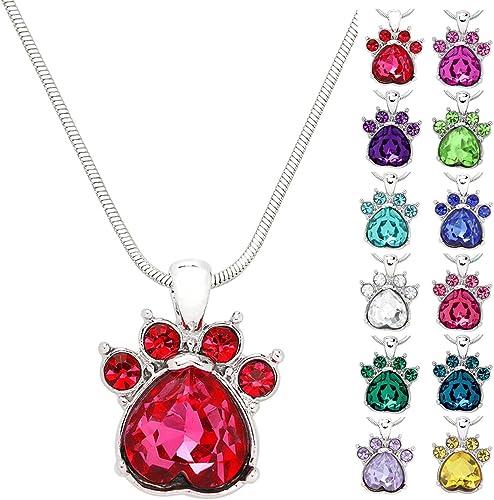 Women Crystal Dangle Cat Earrings Necklace Pendant Snake Chain Jewelry Set Gift