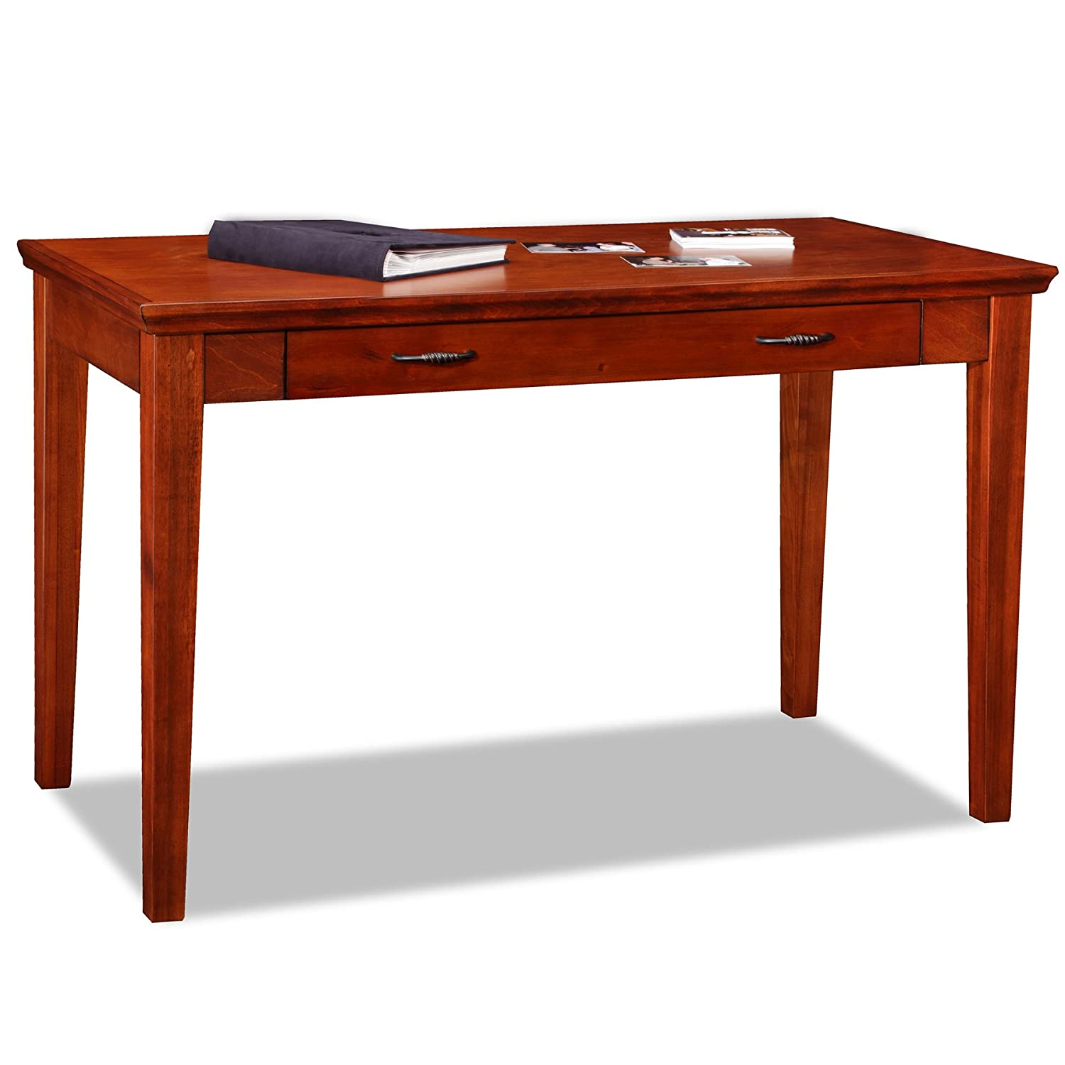 Amazon Leick Westwood Laptop Writing Desk Brown Cherry Finish Kitchen Dining