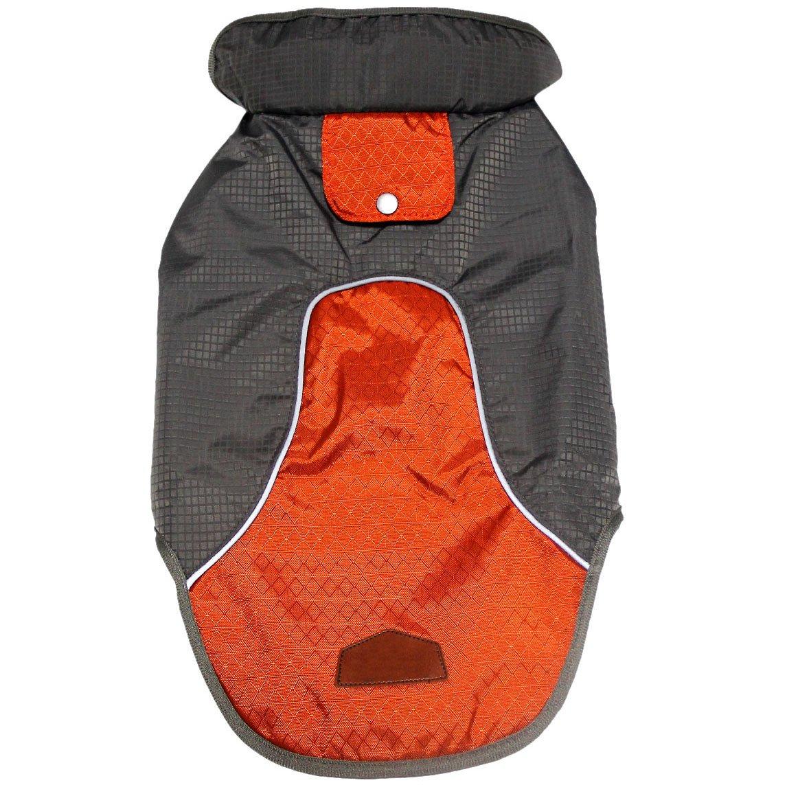 JoyDaog Premium Outdoor Sport Waterproof Raincoat Dog Jacket,Super Breathable Mesh Lined Dog Coats for Small Dogs, Orange L by JoyDaog