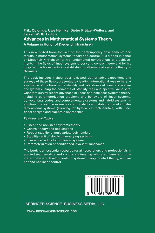 A Volume in Honor of Diederich Hinrichsen