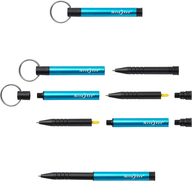 Blue Nite Ize IP2-03-R7 Inka Key Chain Weatherproof Portable EDC//Adventure Pen