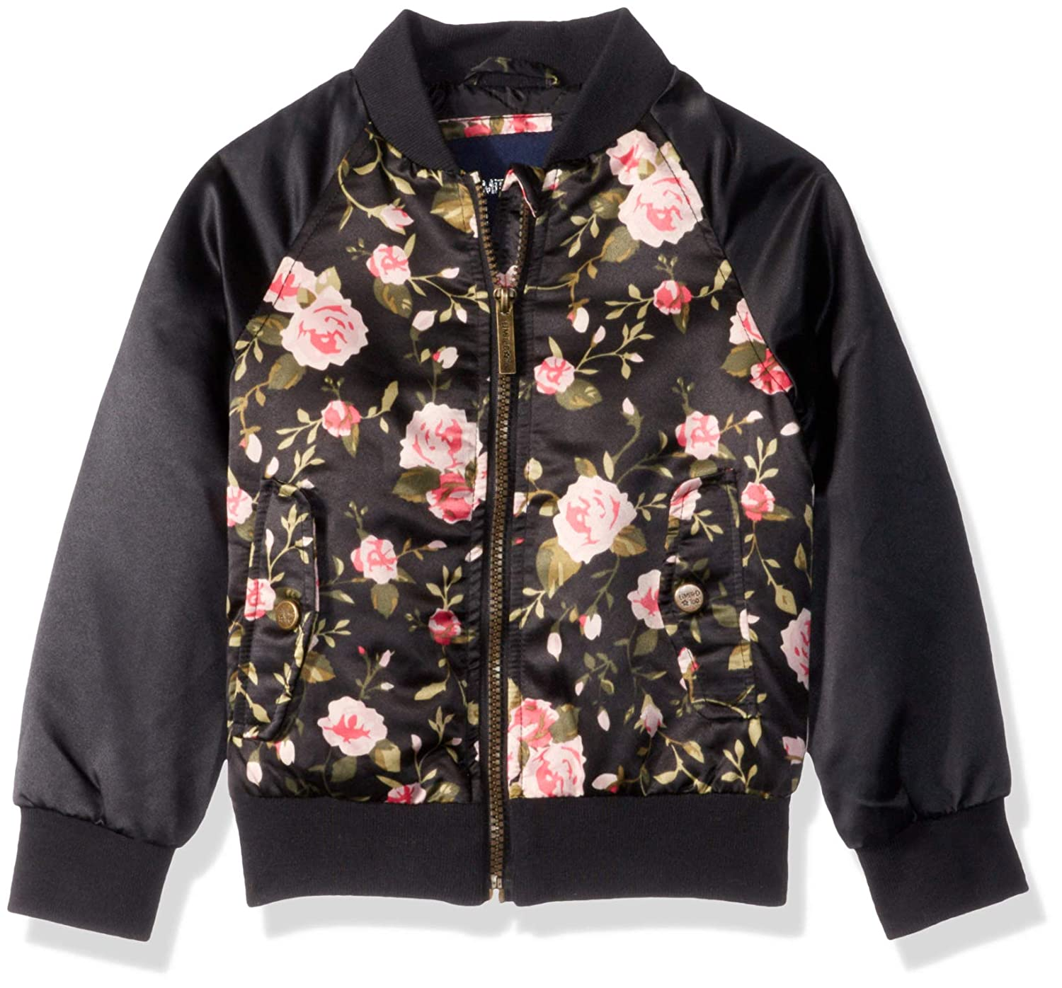67d78685d Amazon.com: Limited Too Girls' Big Bomber Jacket with Floral Print ...