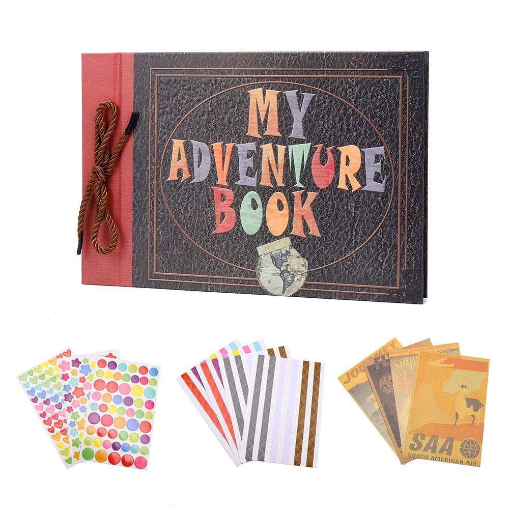 My Adventure Book Scrapbook Photo Album Pixar Up Handmade DIY Photo Album Family Wedding Anniversary Scrapbooking Album