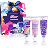 Valentine's Day Hand Cream Set - Body & Earth Hand Lotion with Argan Oil and Glycerin to Nourish and Deeply Moisturize Hands, 3 x 2.0 oz/60ml Travel Size Lotion, Beautiful Christmas Gift for Women