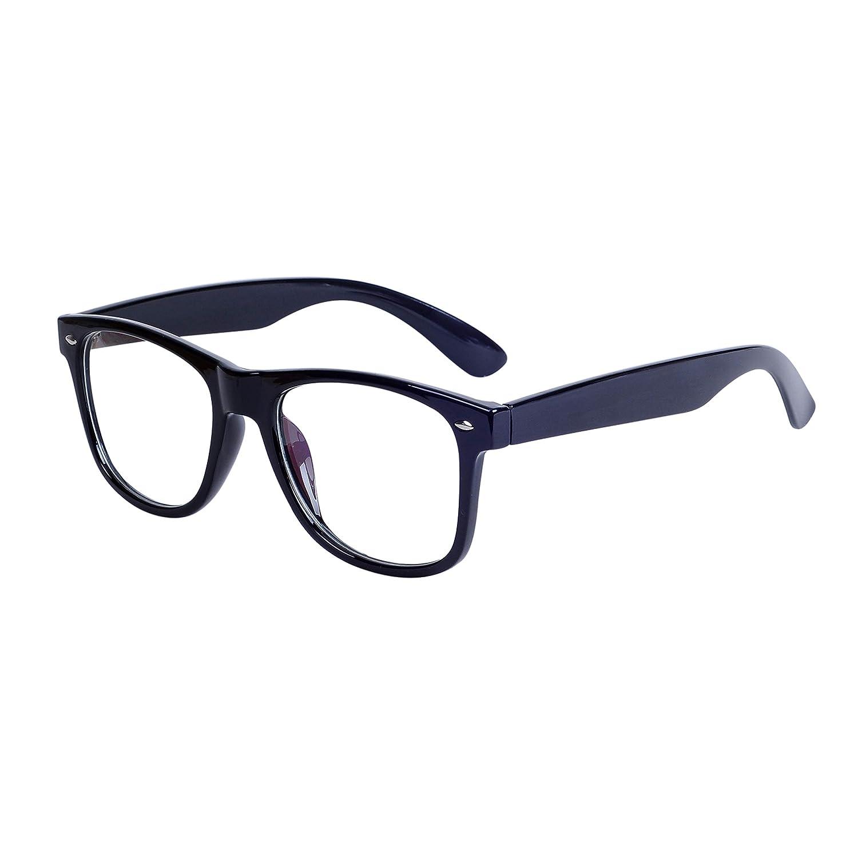 Wayfarer Glasses Frame Men Non-prescription Clear Lens Oversized Eyewear + Case JoXiGo