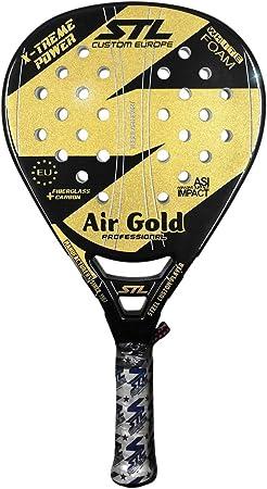 Steel Custom Europe Air Gold-16 Pala de pádel, Unisex Adulto ...