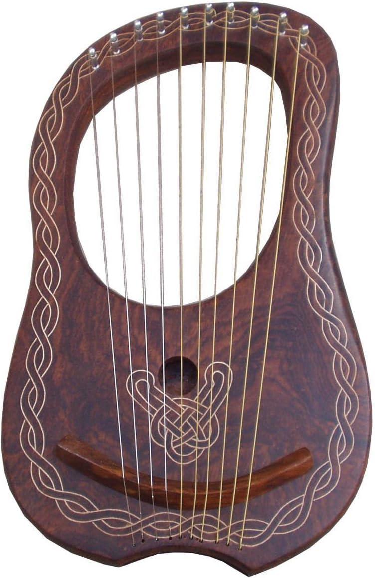 Highland Wears Lyra - Arpa de madera de palisandro, 10 cuerdas de metal, arpa de lana de palisandro, incluye funda: Amazon.es: Instrumentos musicales