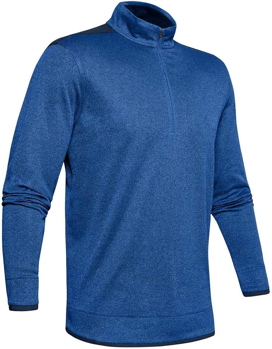 Under Armour Men's SweaterFleece 1/2 Zip Long Sleeve Warm-up Top Tempest