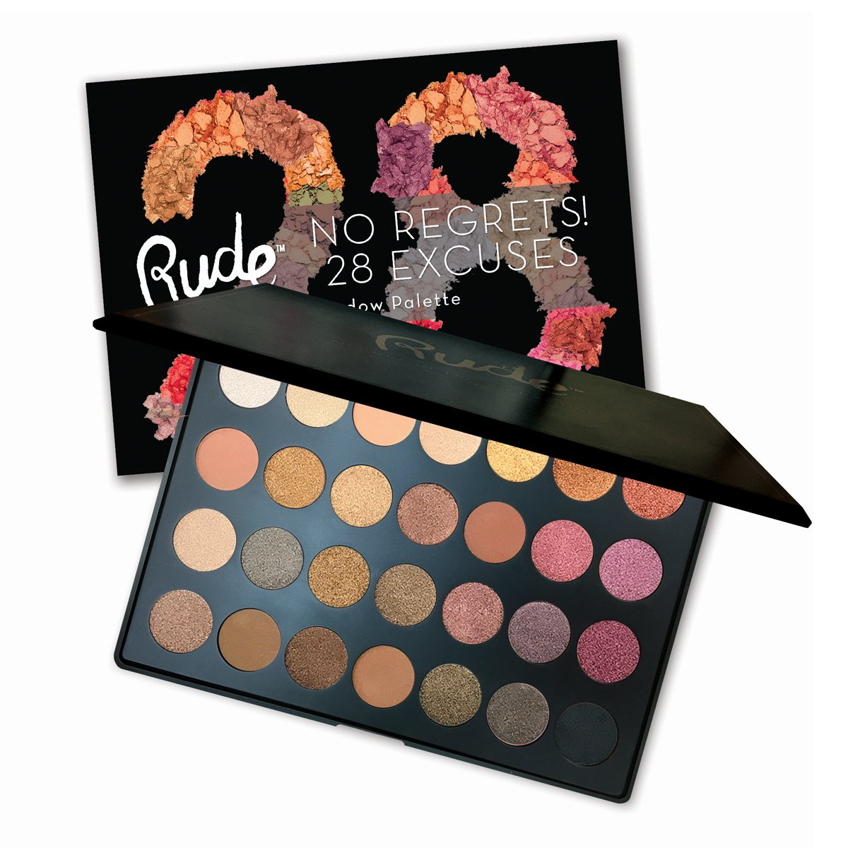 (6 Pack) RUDE No Regrets! 28 Excuses Eyeshadow Palette - Scorpio (並行輸入品) B0767K9QQR