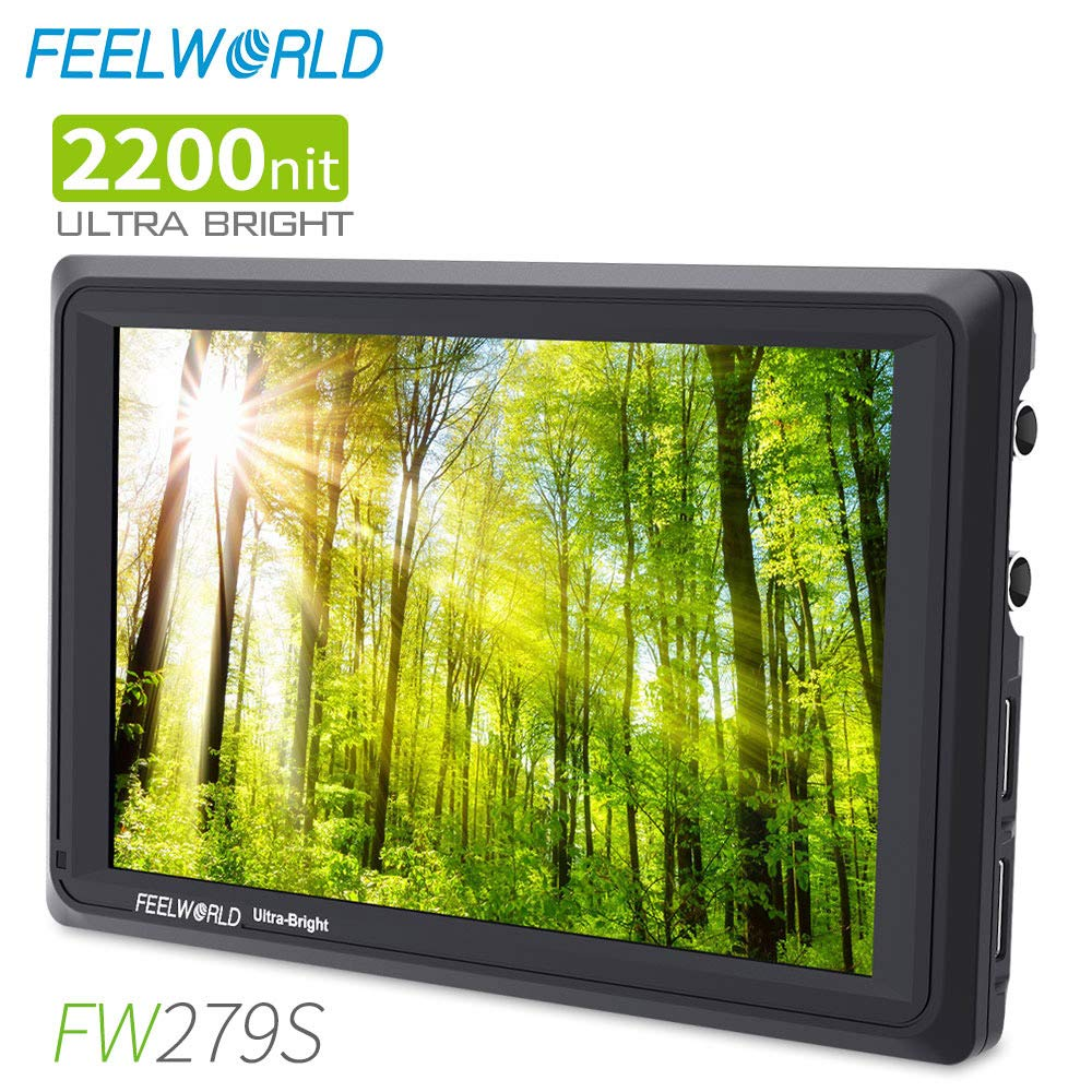 FEELWORLD FW279S 7 Inch Ultra Bright 2200nit DSLR Camera Field Monitor Daylight Viewable High Brightness Full HD 1920x1200 3G SDI 4K HDMI Input Output by FEELWORLD
