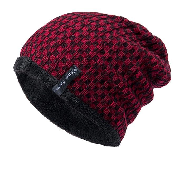 8e586a3d030 Clothing Unisex Men Women Baggy Warm Crochet Winter Wool Knitted Hat Ski  Beanie Skull Slouchy Caps