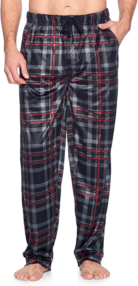 Men/'s Boys Khaki Tartan Pj/'s Woven Pyjama Bottom Lounge Pants Night Trousers