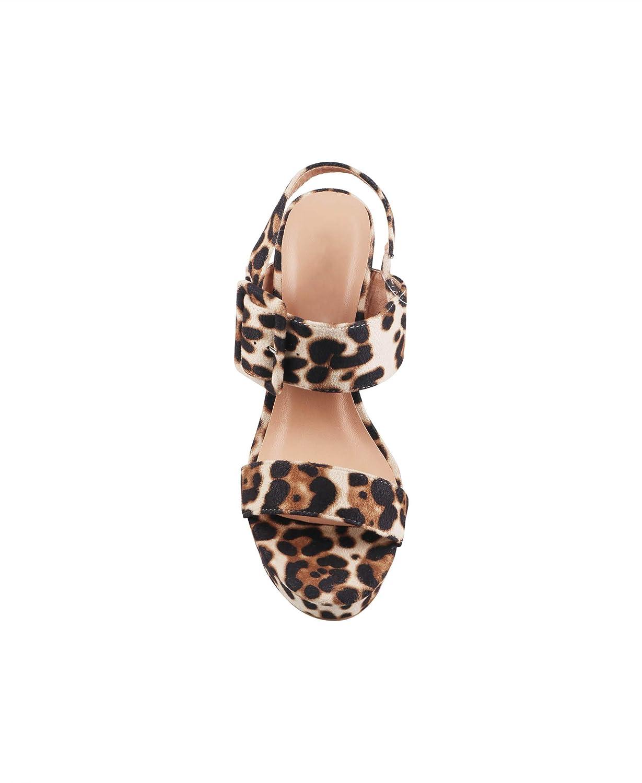 Krisp Women Platform Sandals Ladies High Heels Summer Party Chunky Block Heel Shoes