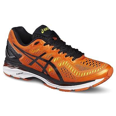 Asics Men's Gel-Kayano 23 Competition Running Shoes, FLAME ORANGE/BLACK/ SAFETY