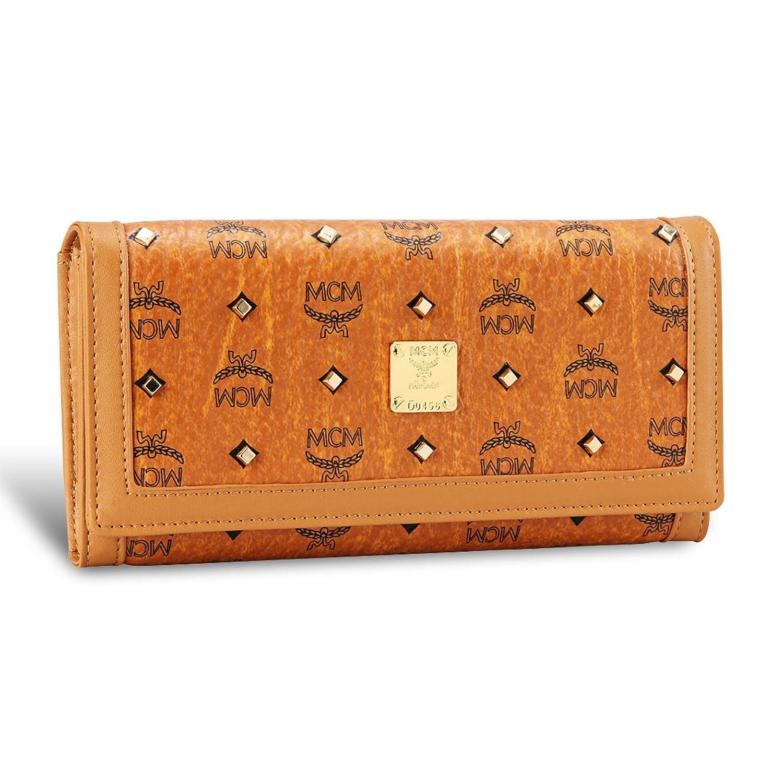 レディース財布 長財布 三つ折り財布 ウォレット ヘリテージ ラージ コニャック サイフ Cognac[並行輸入品] B07BTQ1KD5