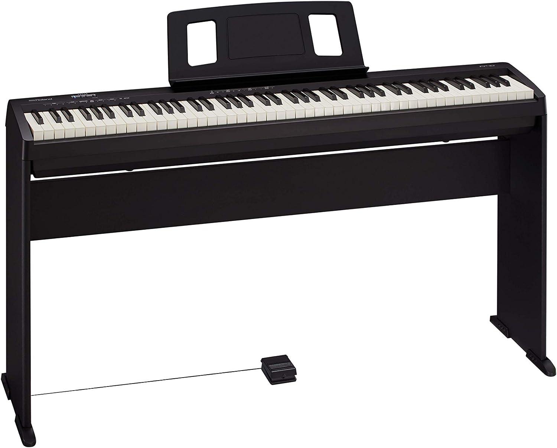 RPB-100BK Banc de piano Roland finition Noir satin/é avec assise plastique et compartiment pour partitions