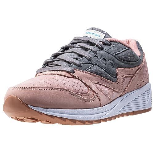 Saucony Salmon/Charcoal Grid 8000 Zapatillas-UK 7: Amazon.es: Zapatos y complementos