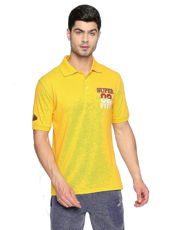 Fitz Men's Plain Regular fit Polo