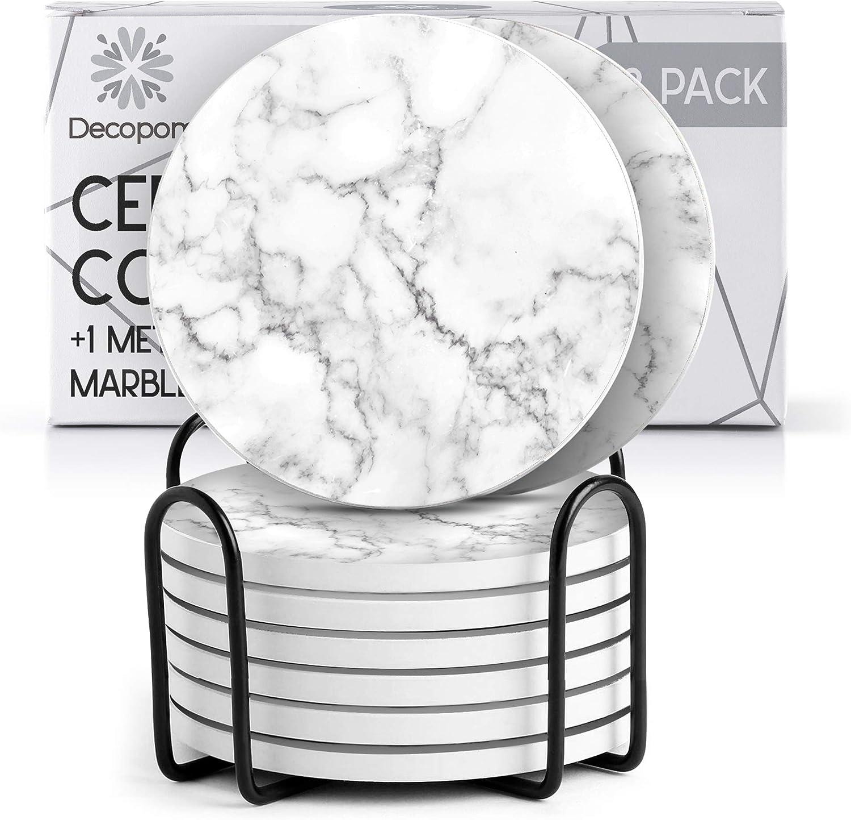 7 Prisma Tone Coasters Set Original Cork Korkies in Original Box Mid Century Modern Barware MCM Cocktail Drinkware 1960\u2019s