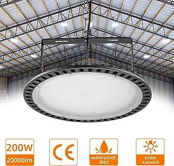 Proyector LED Exterior Proyector LED Blanco frío con superbrillante e impermeable IP 65 para jardín interior y exterior, garaje (Cool White, 200W): Amazon.es: Iluminación