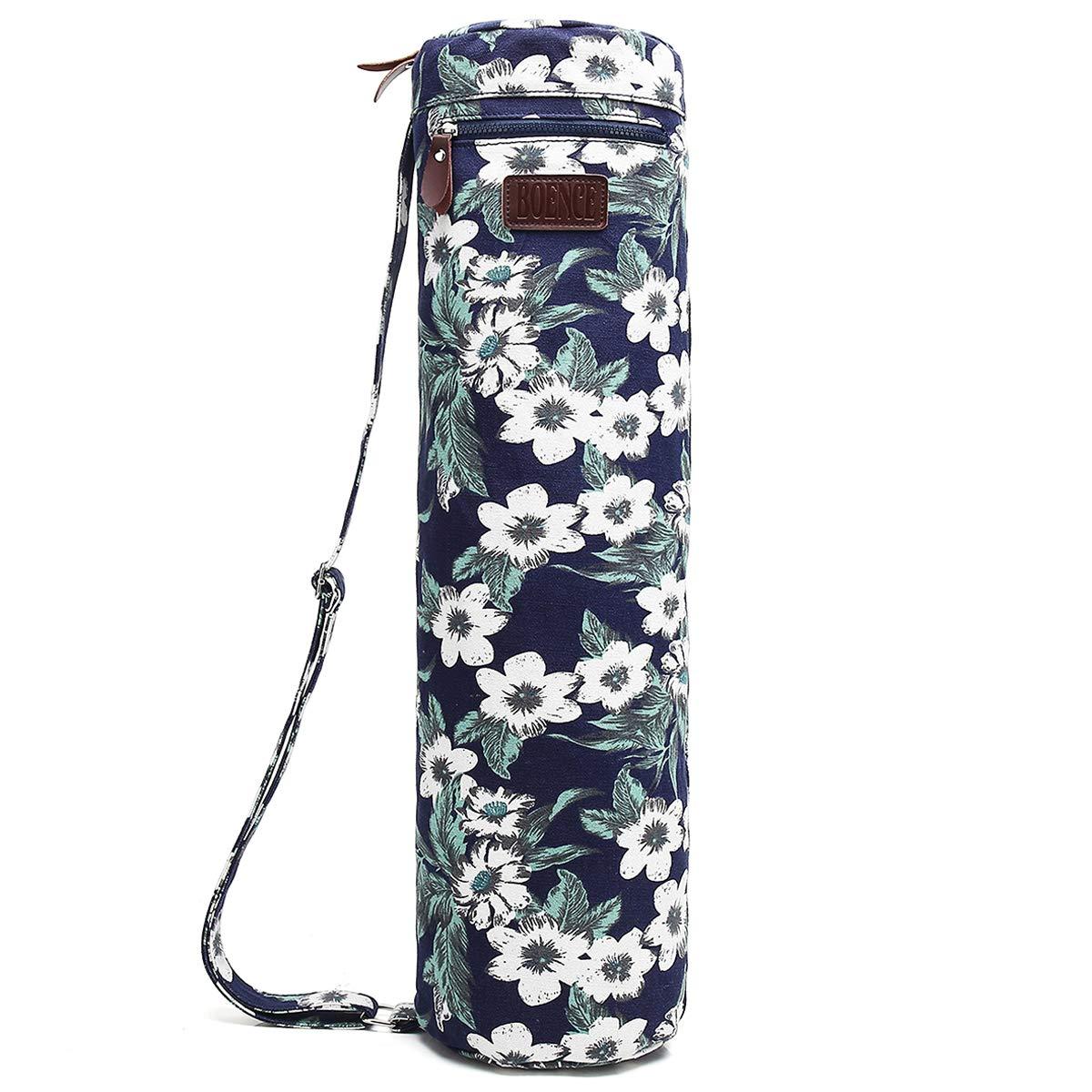 Boence Yogamatten Tasche, Vollständig Reißverschluss Übung Yoga Matte Handtasche mit stabil Segeltuch Glatt Reißverschluss einstellbar Tragegurt Großer Vielseitiger verwendter Beutel