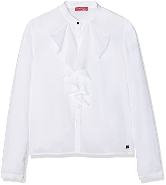 Gaudì Camicia con Volant, Blusa para Niñas, Bianco (White), 170 cm
