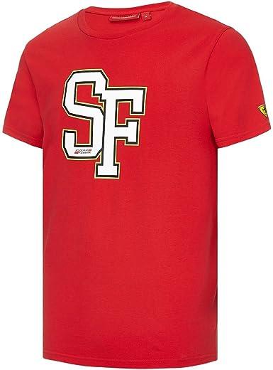 Branded London Scuderia Ferrari Hombre SF-Grafik-t-Shirt: Amazon ...