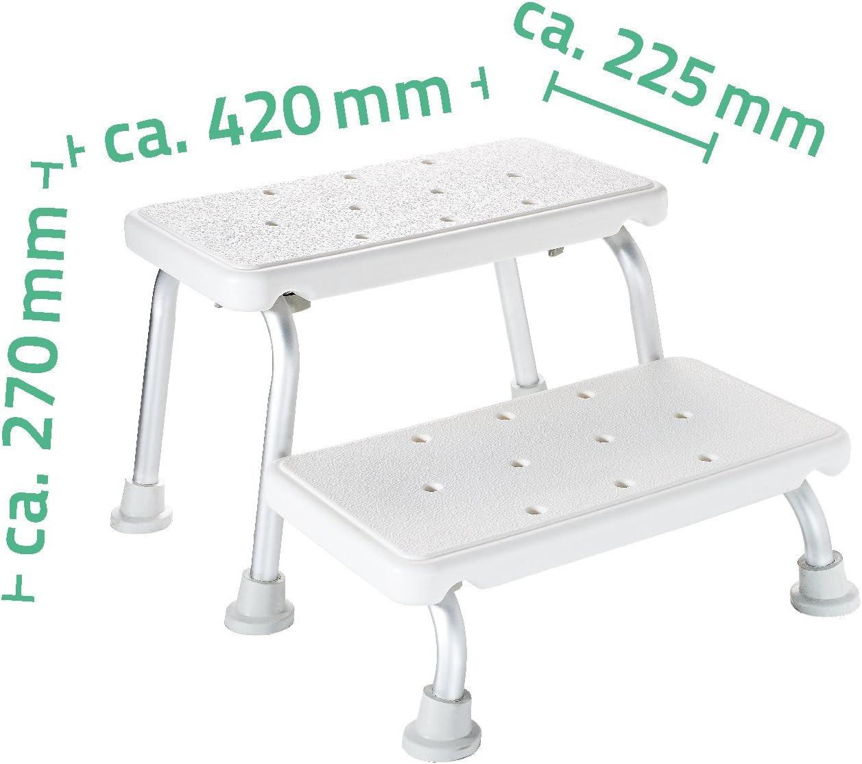 Schemel wei/ß Tritt Badschemel RIDDER Assistent  A0102001 Zweistufenschemel