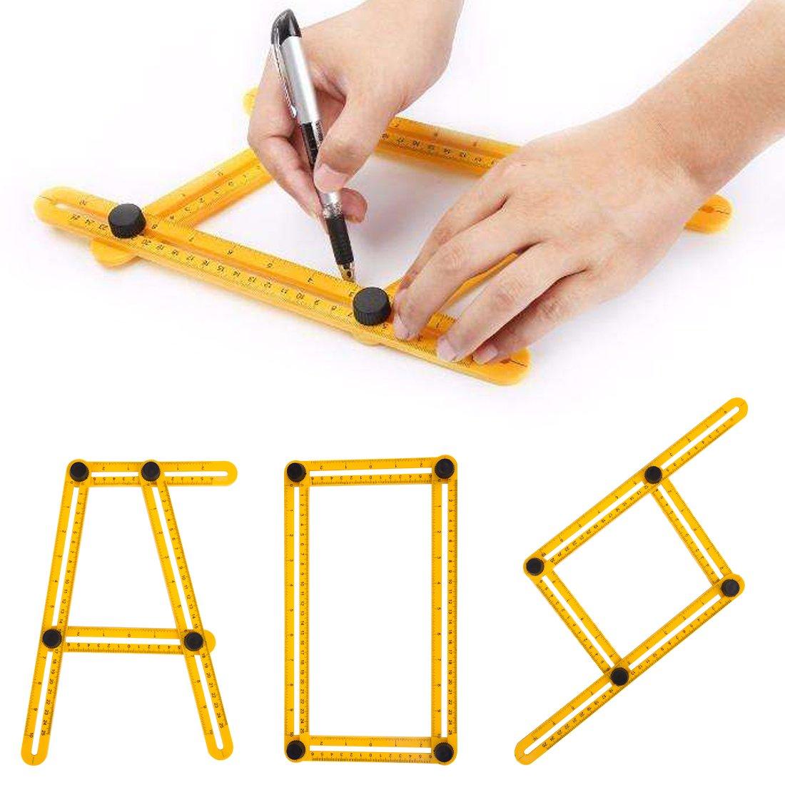 Handsaws Set, Four Fold Ruler, Multifunction Bow Saw +Angle Measuring Ruler for Engineer Handymen Builders Craftsmen by SILIVN by SILIVN (Image #5)