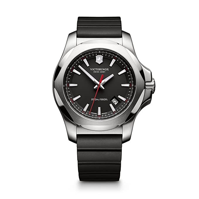 Analog Display Swiss Quartz Black Watch
