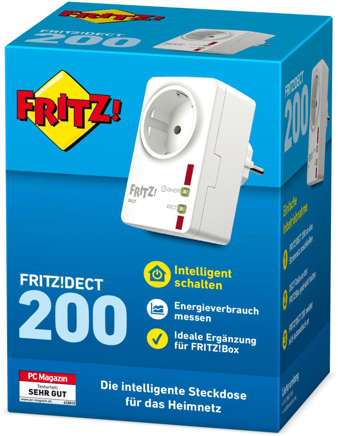 Intelligente Steckdose f/ür das Heimnetz AVM FRITZ!DECT 200 deutschsprachige Version