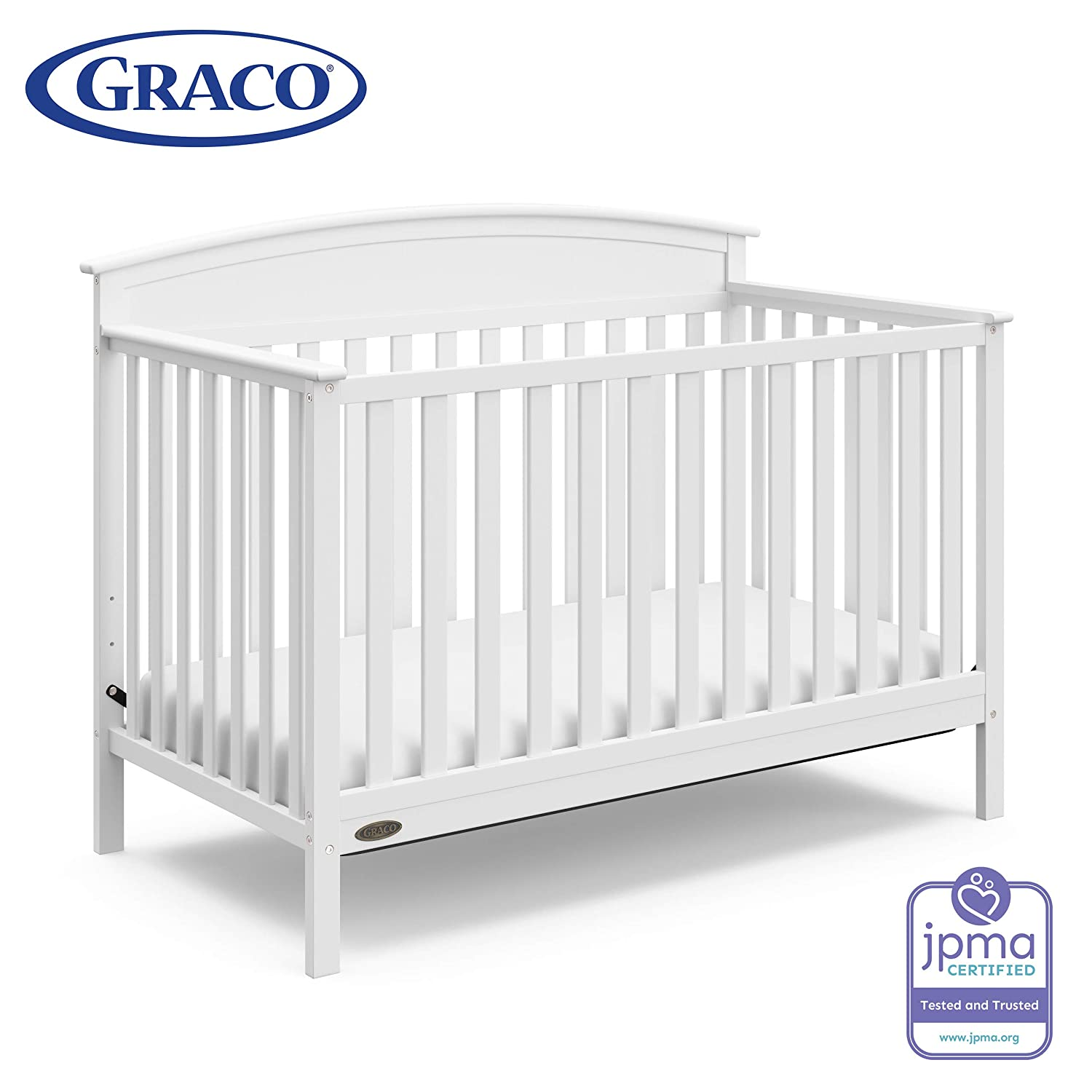 White Graco Brenton 4-in-1 Convertible Crib