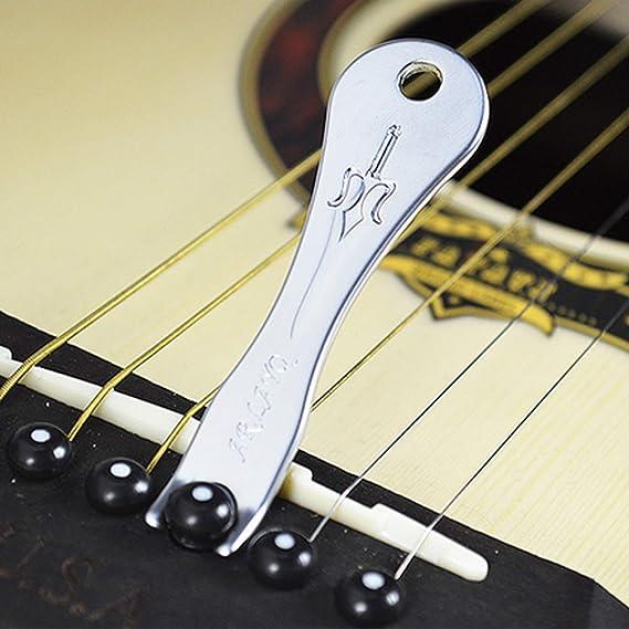 Huertuer 12/pz perni pioli con ponte chitarra pin Puller Remover per chitarra bianco