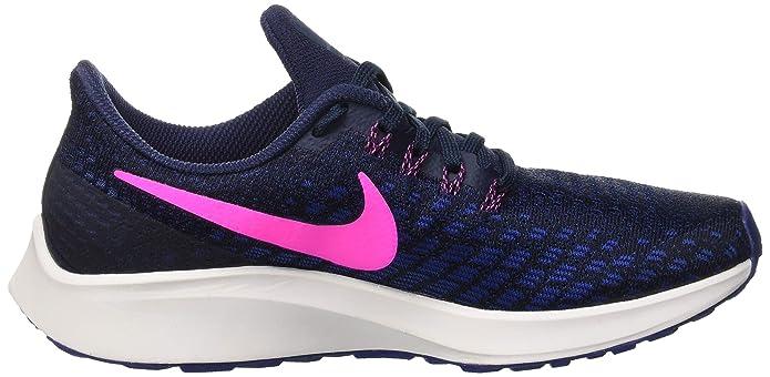 big sale 83dee 606ff Amazon.com   Nike Women s Air Zoom Pegasus 35 Running Shoes, Blue  (Obsidian Pink Blast Deep Royal 401), 8.5 M US   Road Running