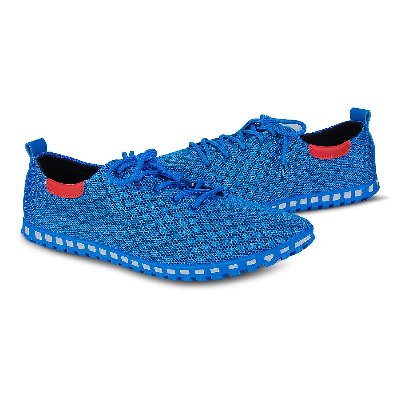 Eastiano Zapatos de Cordones de Caucho Para Hombre 42 EU, Color Azul, Talla 44 EU