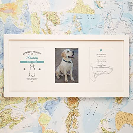 Personalised Dog Memorial Frame, In Loving Memory Gifts, Pet ...