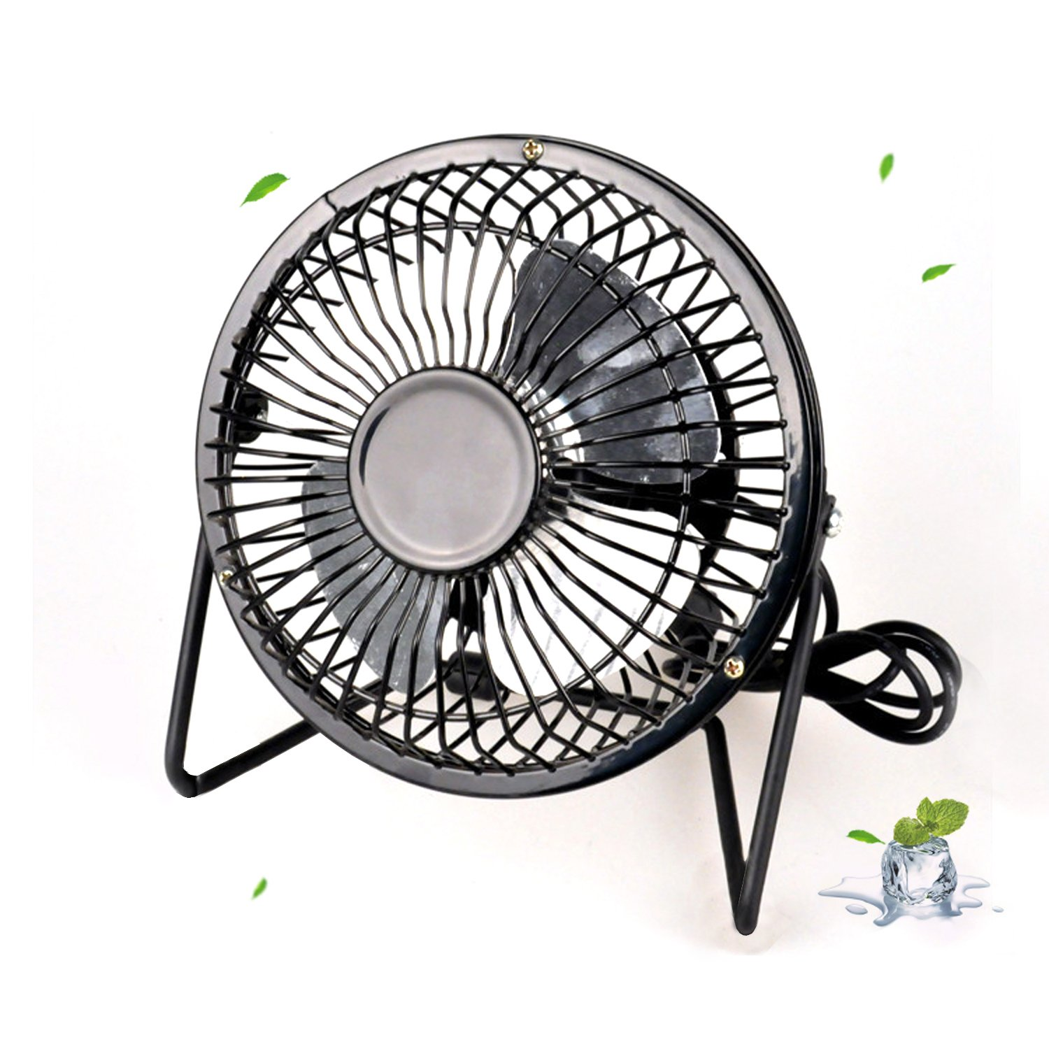 Brand New Mini Portable USB Metal Desk Fan, for Desktop PC/Laptop/DC/Netbook/Computer and MacBook- Powered Quiet Cooling The Best Kingdom
