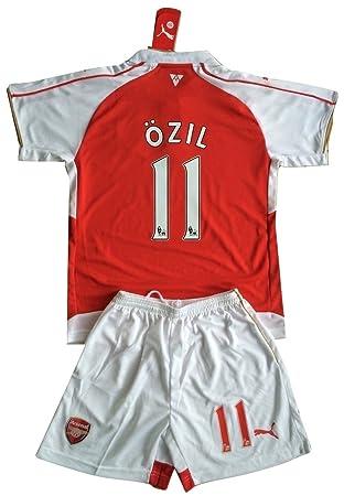 89d9fa7a2 Ozil #11 Arsenal 2015-16 Youths Home Kit Shirt & Shorts (Age 9-10 ...