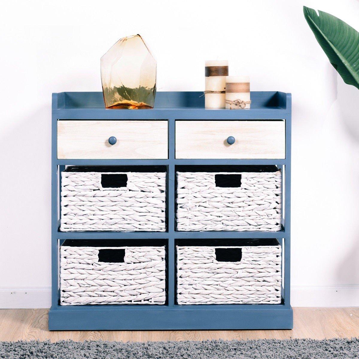 BESTChoiceForYou Cabinet Table Storage Side Wood Drawers Console Sideboard Cupboard W Furniture End Vidaxl White Baskets Drawer Door Home by BESTChoiceForYou (Image #4)